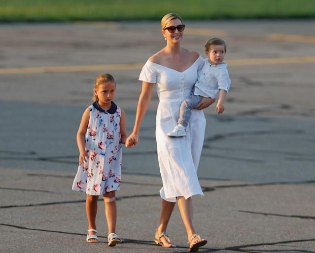 Ivanka Trump with her children Arabella and Theodore. (AP Photo)