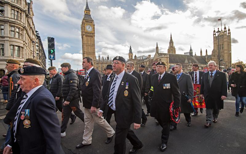 Veterans march on Downing Street in January - Credit: Paul Grover