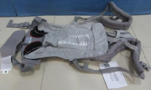 One of the baby carriers found unsafe by Enterprise Singapore. (PHOTO: Enterprise Singapore)