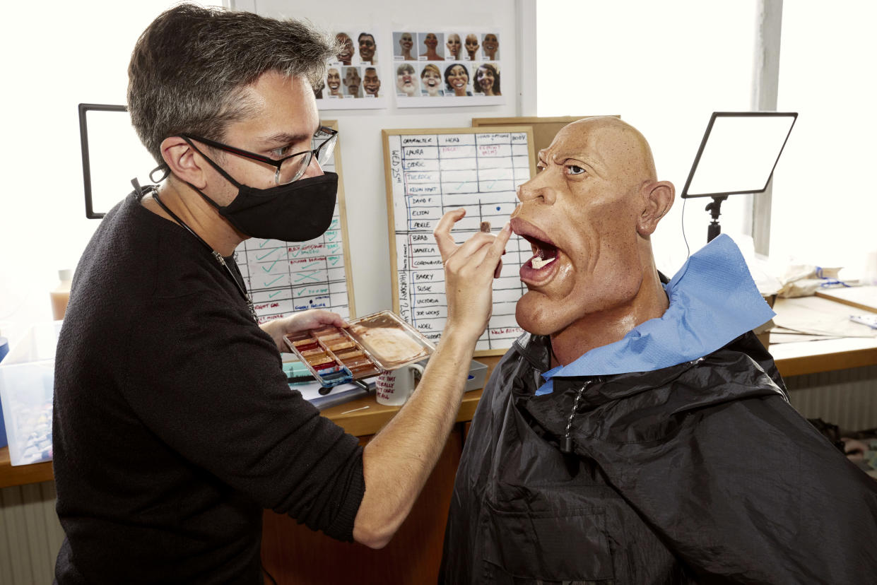 Each puppet will go through a 10-stage process to be brought to life (Mark Harrison)