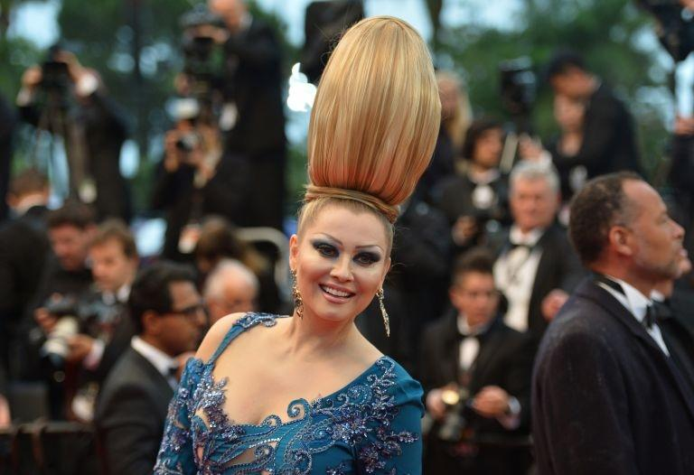 """Elena Lenina The former reality TV candidate had a very high hairdo for the screening of """"Jimmy P."""". Definitely not the best choice, but she will at least be remembered."""