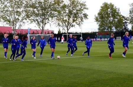 FILE PHOTO: Soccer: Womens World Cup-USA Training Session