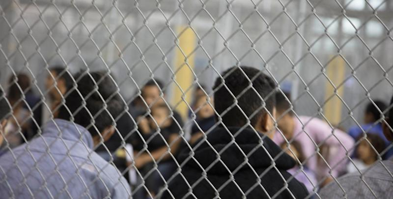 A view of inside a U.S. Customs and Border Protection detention facility in Rio Grande City, Texas, last month. (Handout . / Reuters)