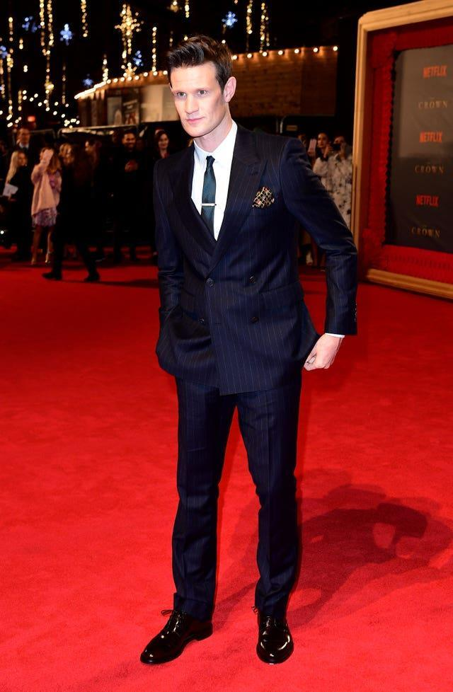 Matt Smith on the red carpet