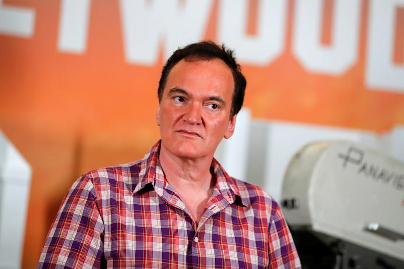 "Director Quentin Tarantino poses for a picture as he takes part in a photo call for his movie ""Once Upon a Time in Hollywood"" in Beverly Hills, California, U.S. July 11, 2019. REUTERS/Mike Blake"