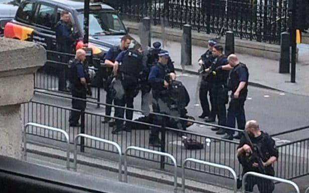 Suspect bundled to the ground immediately after the dramatic swoop - Credit: PA