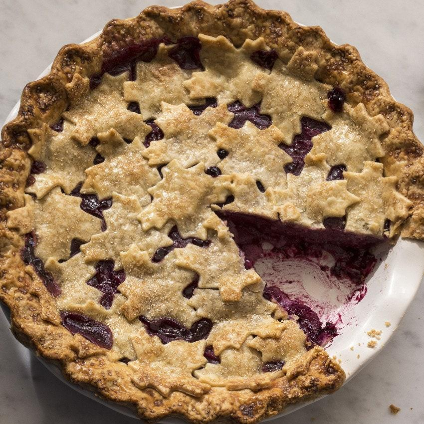 """This beloved fall pie combines juicy concord grapes with sweet pears and a festive top crust. <a href=""""https://www.epicurious.com/recipes/food/views/concord-grape-and-pear-pie-51257290?mbid=synd_yahoo_rss"""" rel=""""nofollow noopener"""" target=""""_blank"""" data-ylk=""""slk:See recipe."""" class=""""link rapid-noclick-resp"""">See recipe.</a>"""