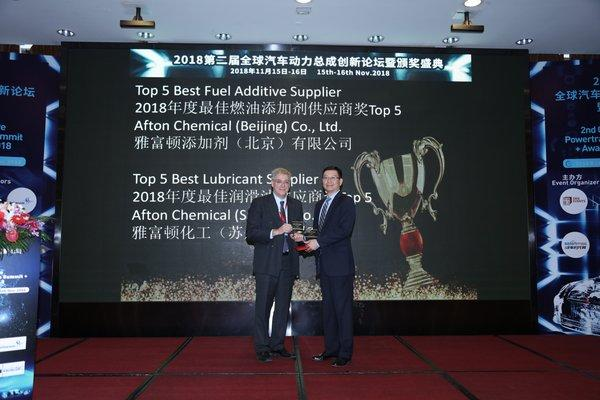Mr. Bill Russo, Chairman of the Automotive Committee at the American Chamber of Commerce in Shanghai, presented the two