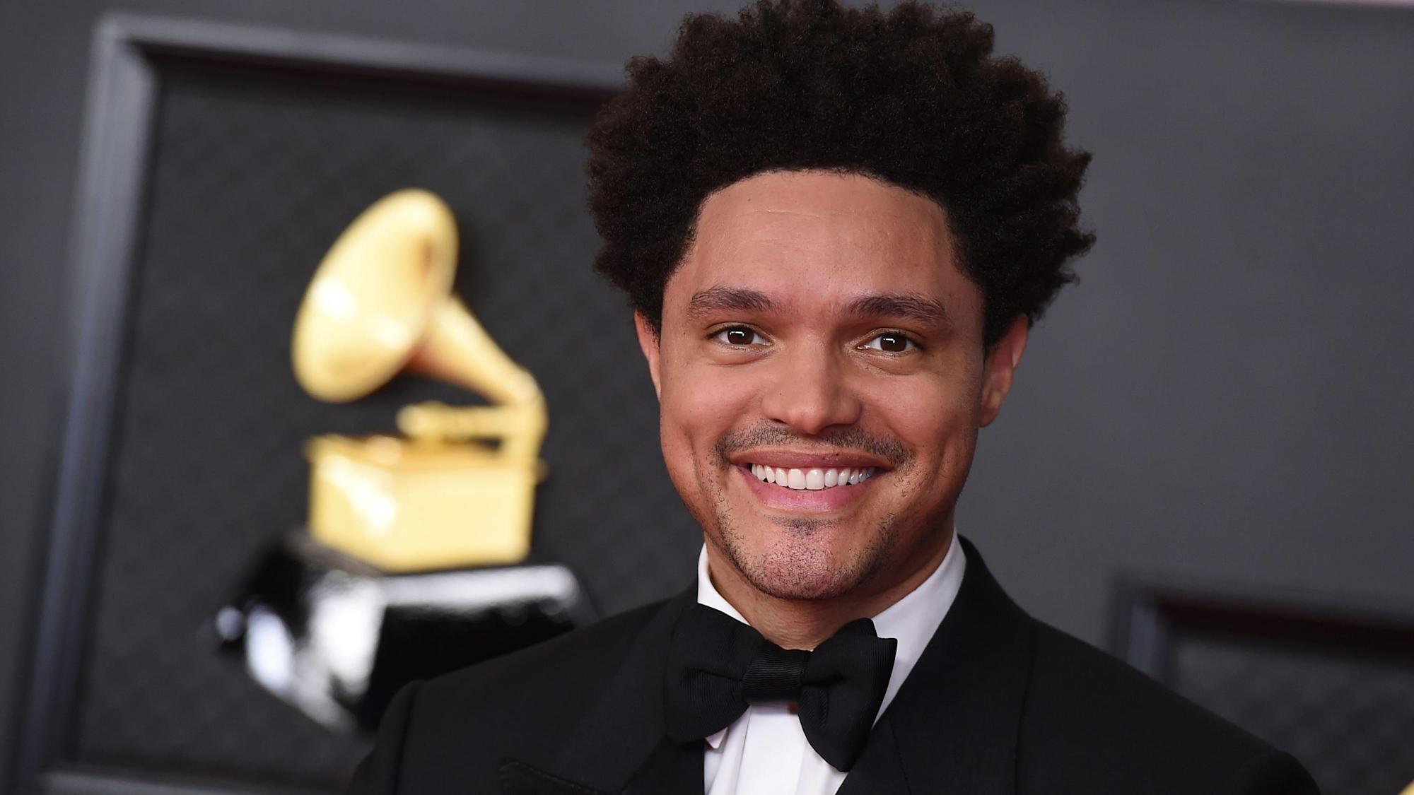 Trevor Noah opens Grammys with joke about royal family