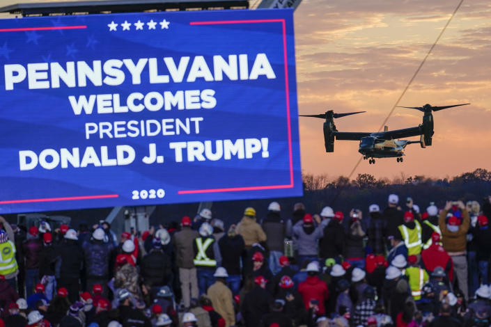 A campaign stop by Donald Trump