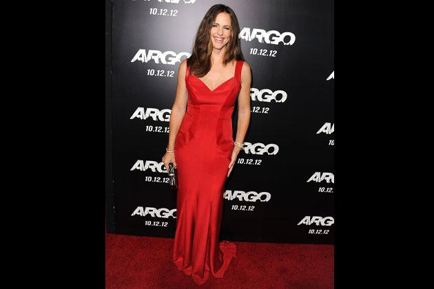 You can never go wrong with red on the red carpet. Another dress by Monique Lhuillier was worn by Jennifer Garner at premiere of 'Argo' in Los Angeles last October.