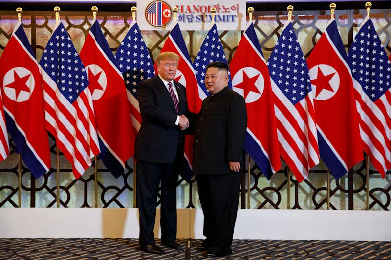 President Donald Trump and North Korean leader Kim Jong Un in Vietnam.
