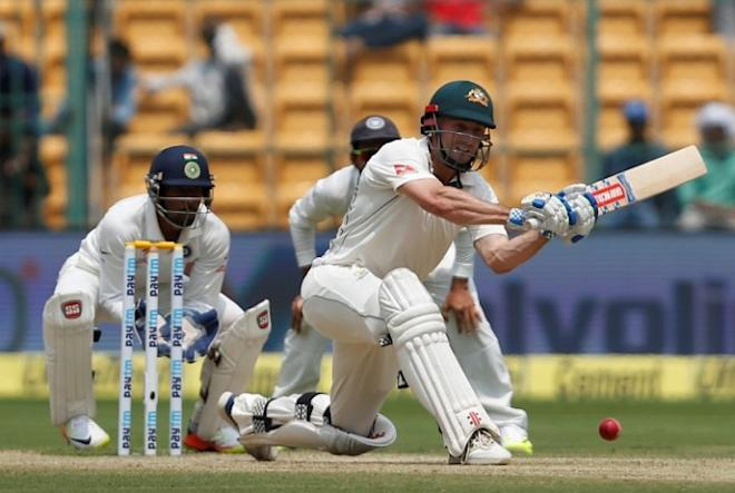 Shaun March, India vs Australia, second Test, Bengaluru, Wriddhiman Saha