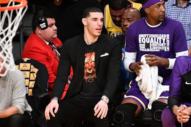Lonzo Ball hasn't played since January and played just 47 games this season. (Getty Images)