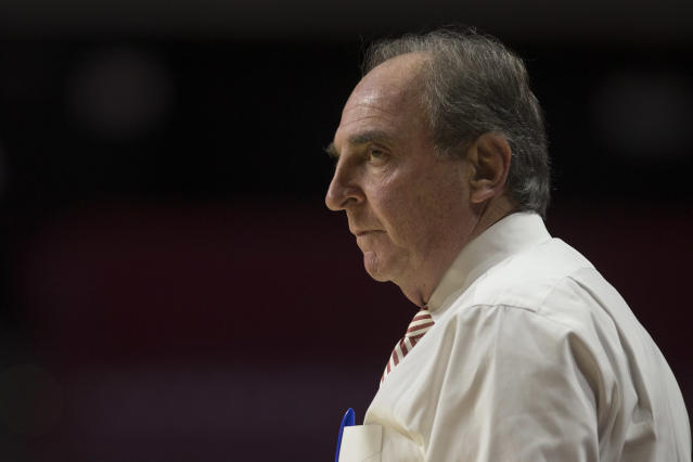 Temple coach Fran Dunphy was assessed a technical foul for slapping his water bottle onto the floor Thursday against Cincinnati. (Getty)
