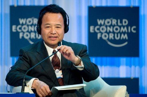 Japan hits back at critics at Davos