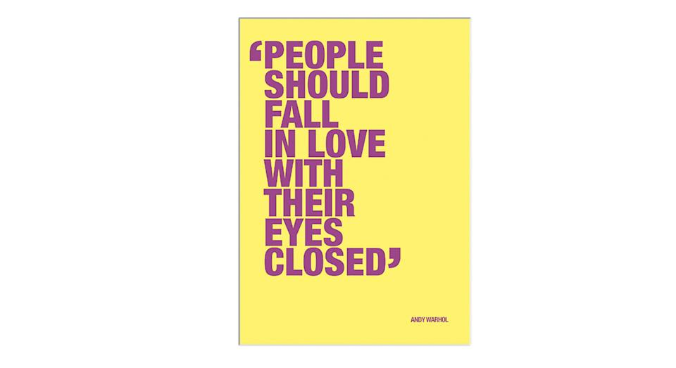 Andy Warhol - People Should Fall In Love Print