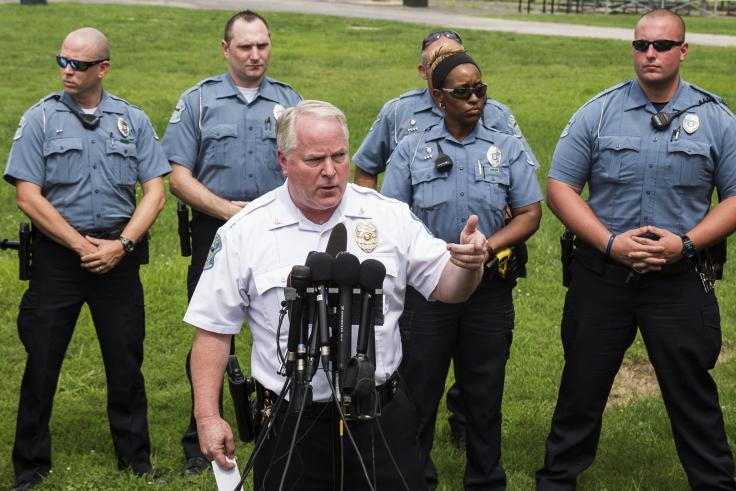Ferguson Police Chief Thomas Jackson will receive a year's severance pay. His last day is March 19. (Reuters File/Lucas Jackson)