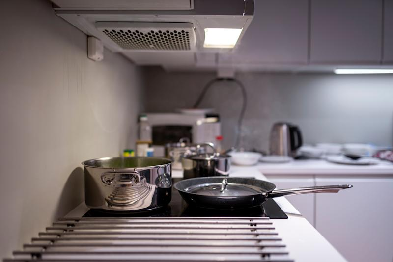Do you have a kitchen fan? Bathroom fan? Using those will help get hot air out of your space.