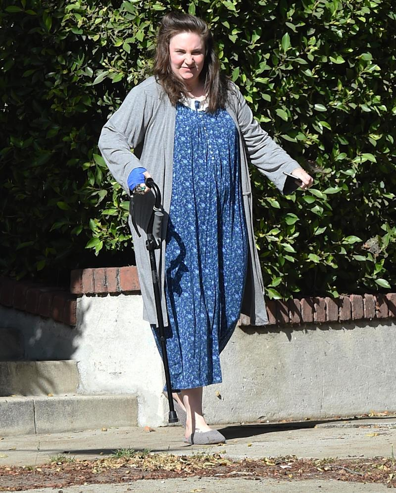 Lena Dunham Says Her Cane Is for Her Ehlers-Danlos Syndrome Flare Up: 'I'm Struggling'