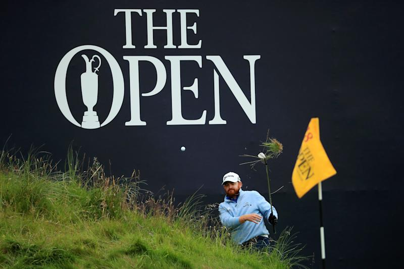 PORTRUSH, NORTHERN IRELAND - JULY 21: J.B. Holmes of the United States plays his third shot on the 18th hole during the final round of the 148th Open Championship held on the Dunluce Links at Royal Portrush Golf Club on July 21, 2019 in Portrush, United Kingdom. (Photo by Andrew Redington/Getty Images)