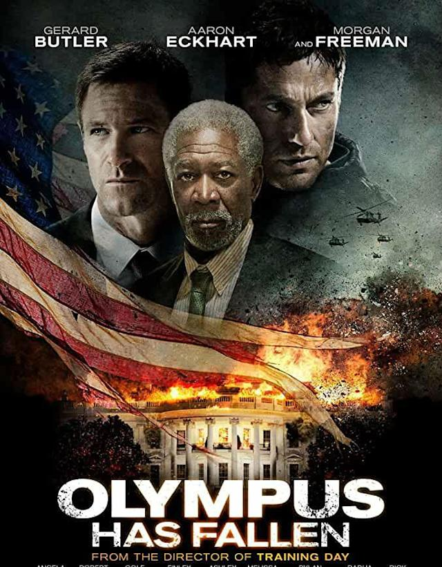 "The White House is under attack and the President is held hostage, only an ex-bodyguard of the President can save the day. It's a great watch if you don't want to use your brains after a hard day of work. You can watch it on <a href=""https://www.primevideo.com/detail/0Q3AU67DF6OZ1TUFOFKANMWL9O/ref=atv_sr_def_c_unkc__1_1_1?sr=1-1&pageTypeIdSource=ASIN&pageTypeId=B085LH41QW&qid=1588246472"" rel=""nofollow noopener"" target=""_blank"" data-ylk=""slk:Prime Video"" class=""link rapid-noclick-resp"">Prime Video</a>."