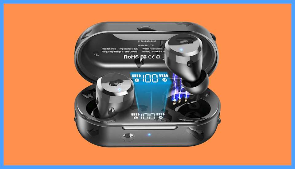 Save nearly 50 percent on these ToZo T12 Bluetooth Wireless Earbuds. (Photo: Amazon)