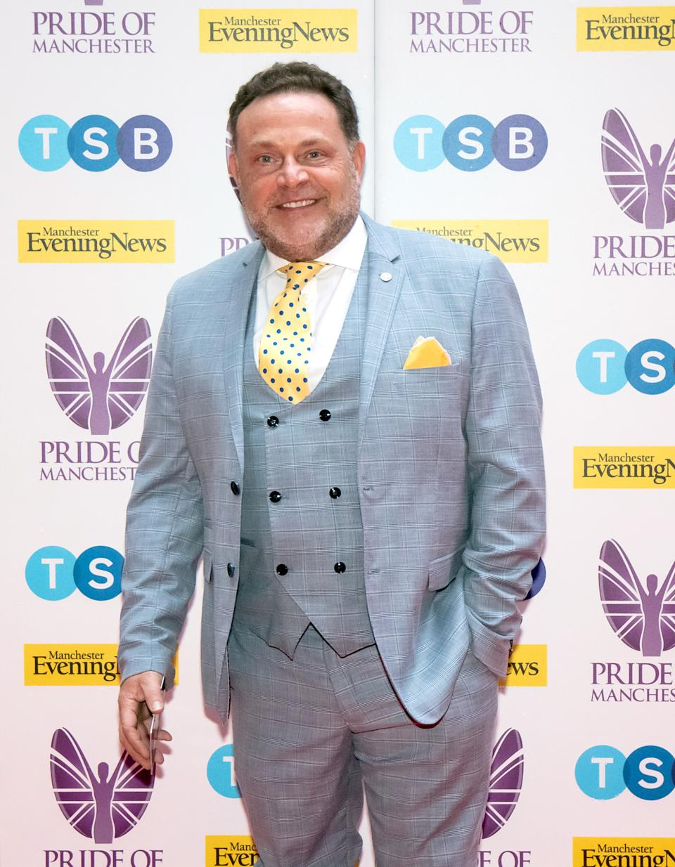 MANCHESTER, ENGLAND - MAY 08: John Thomson attends the Pride of Manchester Awards 2019 at Waterhouse Way on May 08, 2019 in Manchester, England. (Photo by Carla Speight/Getty Images)