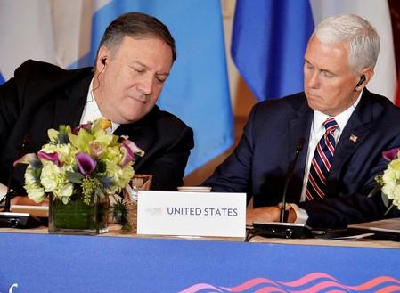 FILE PHOTO:    Secretary of State Pompeo hosts Central America Conference in Washington