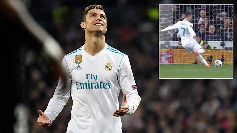 Ronaldo's penalty left fans stunned. Pic: Getty/BeIn Sports