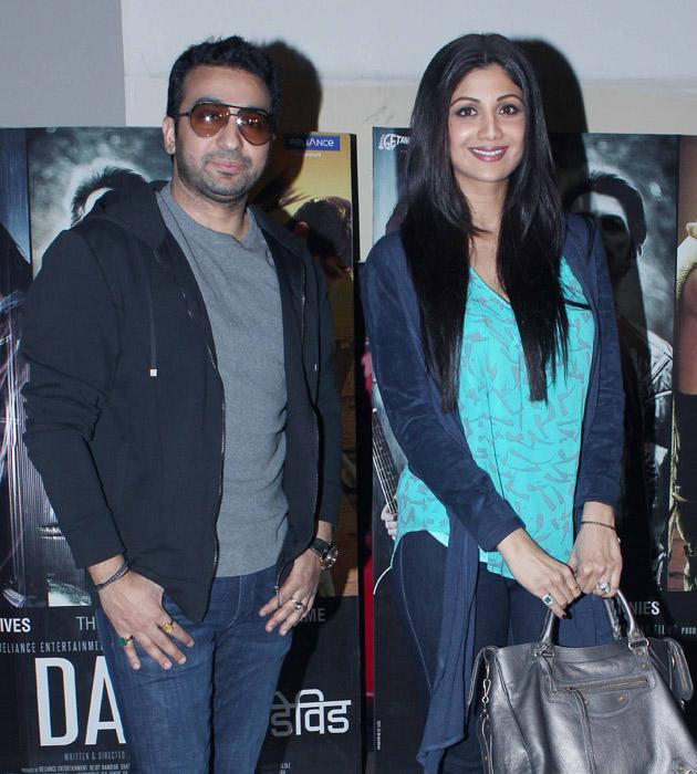 Shilpa and Raj Kundra arrive