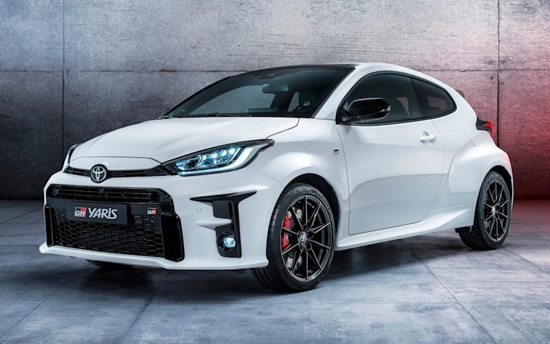 Pocket rocket: although it looks pretty much like the next Yaris supermini, the GR version weighs much less - and develops 257bhp