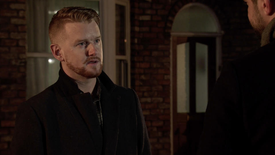 Gary Windass is in trouble when he's hauled into the police station. (ITV Plc)