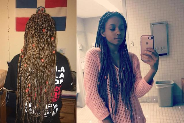 Destiny Tompkins was allegedly shorted on work hours at Banana Republic for wearing her hair in box braids. (Photo: Destiny Tompkins via Facebook)