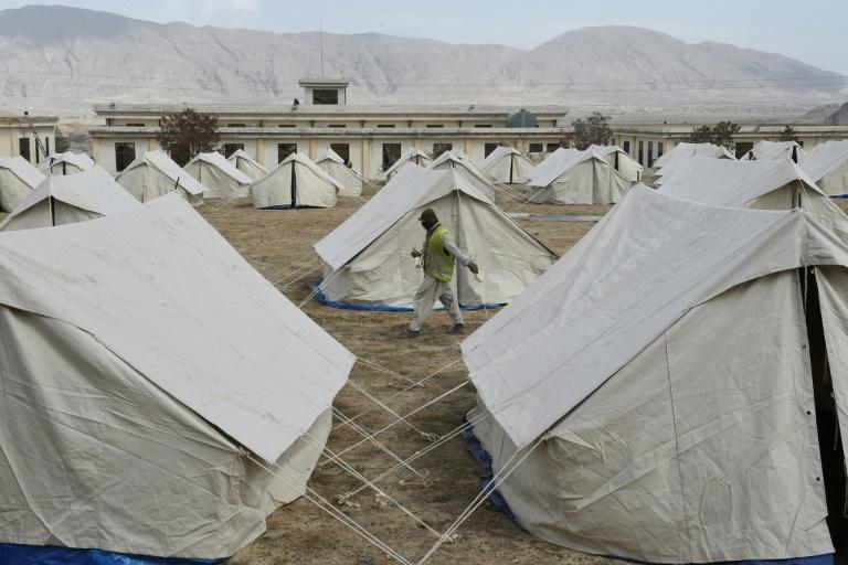 A quarantine camp in Pakistan's Balochistan. Authorities are investigating after journalists said they were tortured for reporting on a camp near the Afghan border