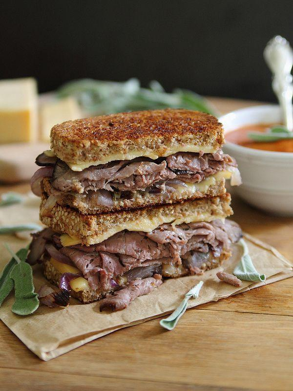 """<p>Make grilled cheese a bit heartier by adding roast beef.</p><p>Get the recipe from <a href=""""http://www.runningtothekitchen.com/roast-beef-smoked-gouda-grilled-cheese/"""" rel=""""nofollow noopener"""" target=""""_blank"""" data-ylk=""""slk:Running to the Kitchen"""" class=""""link rapid-noclick-resp"""">Running to the Kitchen</a>.</p>"""