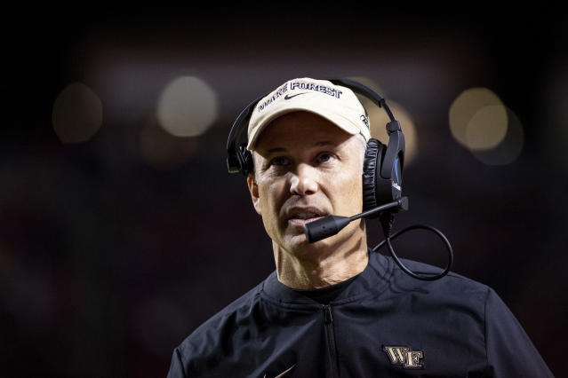 Dave Clawson had to make an awful decision. He isn't alone. (AP Photo/Ben McKeown)
