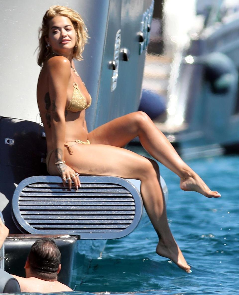 <p>Rita Ora continues her glamorous vacation in Ibiza on Friday.</p>