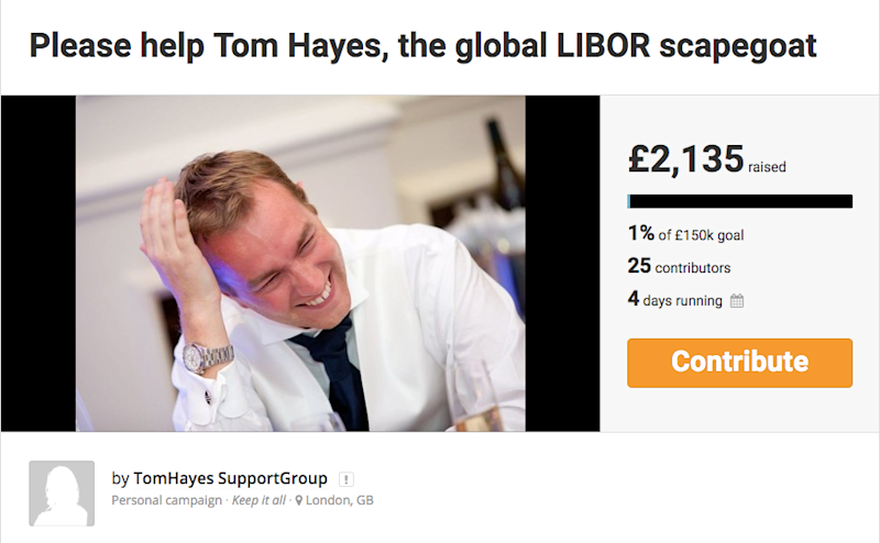Tom Hayes crowdfunding