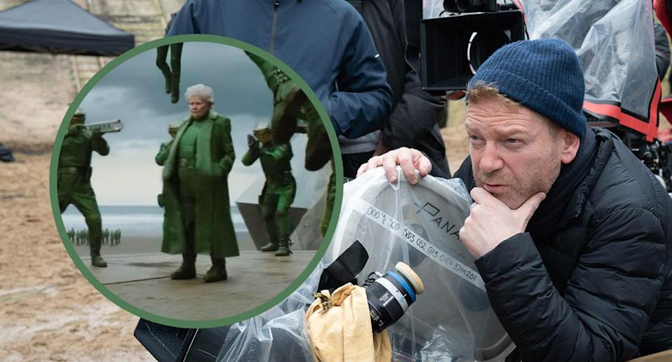 Kenneth Branagh on the set of <i>Artemis Fowl</i> (Disney)