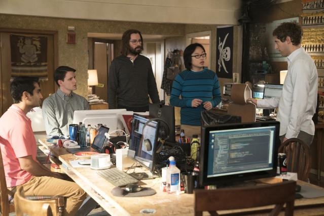 """A scene from HBO's """"Silicon Valley."""" (HBO via AP)"""