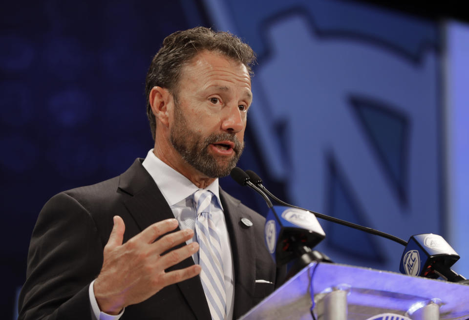 Larry Fedora made quite a splash at ACC Media Days on Wednesday. (AP)