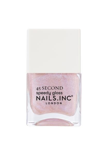 """<p>Although wearing light pink isn't your usual go to shade, you're finding that a unique version of the shade is ideal for your springtime vibe. Especially since it's the more practical color to wear while on job interviews, work meetings, and as you wander around time. Plus, it's very pretty!</p> <p><strong>To shop: </strong>$8; <a href=""""https://www.nailsinc.com/es/Starring-Me-In-Soho-Quick-Drying-Nail-Polish/m-2677.aspx"""" rel=""""sponsored noopener"""" target=""""_blank"""" data-ylk=""""slk:nailsinc.com"""" class=""""link rapid-noclick-resp"""">nailsinc.com</a></p>"""