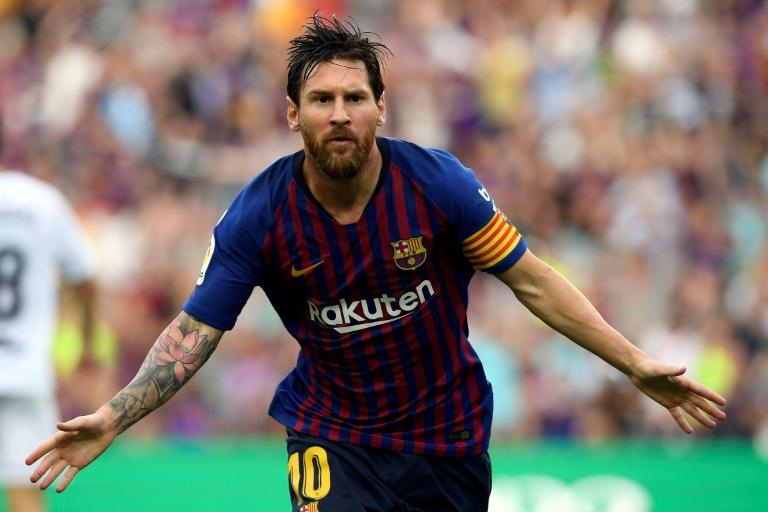 Lionel Messi scored twice as Barcelona ran riot