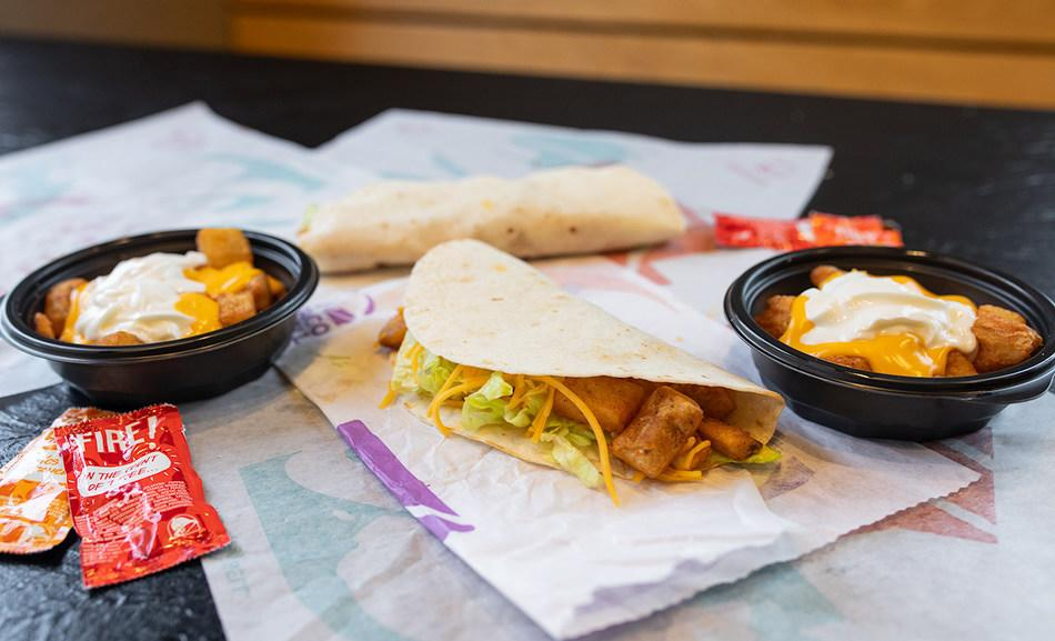 Taco Bell's Cheesy Fiesta Potatoes and the Spicy Potato Soft Taco will be back starting March 11 (Courtesy: Taco Bell)