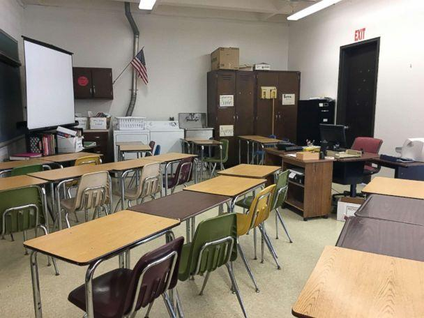 PHOTO: Seen in this photo taken on May 15, the classroom where Jack Candini suffered a stroke on the afternoon of April 27. (Milford High School)