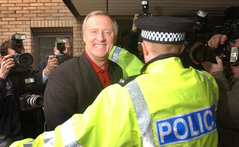 Who Wants To Be A Millionaire? host Chris Tarrant arriving at Southwark Crown Court central London to give evidence at the trial of Army major Charles Ingram who was convicted of cheating to win the show's top prize. I