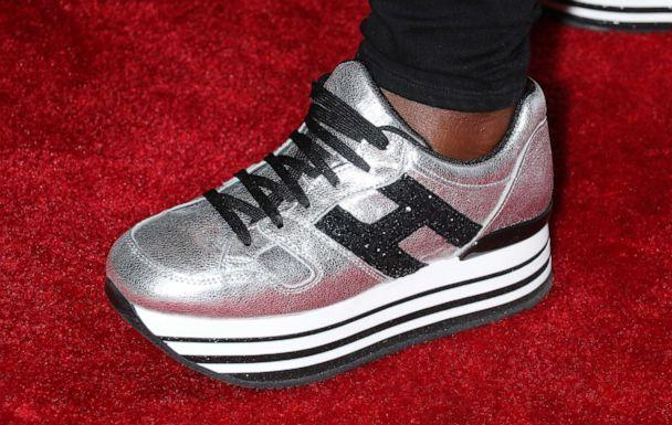 PHOTO: Actress Viola Davis's shoe is pictured at a film screening in New York, April 25, 2019. (Jim Spellman/Getty Images, FILE)