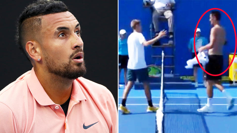 Nick Kyrgios and Bernard Tomic, pictured here at the Delray Beach Open.