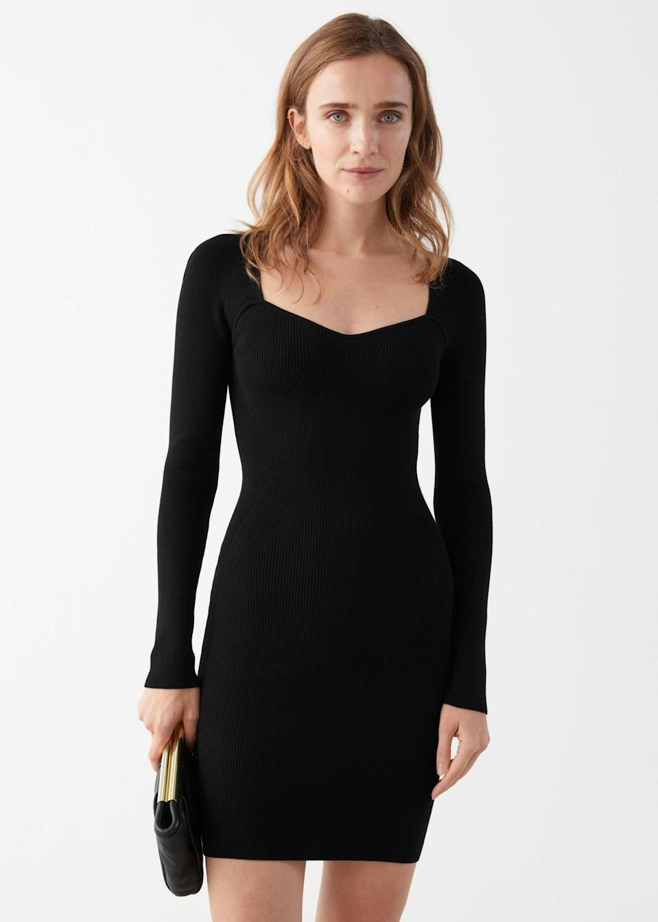 <p>Have a date night coming up? This <span>&amp; Other Stories Ribbed Sweetheart Neck Bustier Mini Dress</span> ($59, originally $119) is a flattering choice.</p>